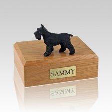 Schnauzer Black Standing Large Dog Urn