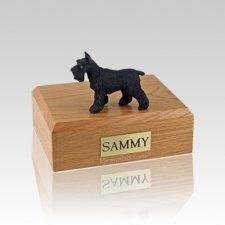 Schnauzer Black Standing Medium Dog Urn