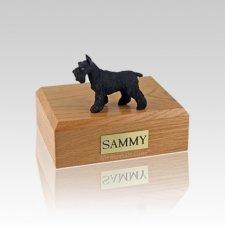 Schnauzer Black Standing Small Dog Urn