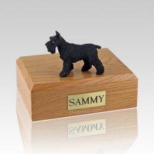 Schnauzer Black Standing X Large Dog Urn