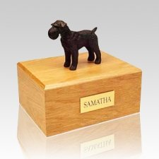 Schnauzer Black X Large Dog Urn