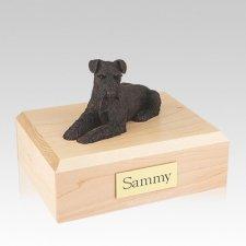 Schnauzer Bronze Ears Down Large Dog Urn