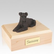 Schnauzer Bronze Ears Down Dog Urns