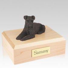 Schnauzer Bronze Ears Down X Large Dog Urn