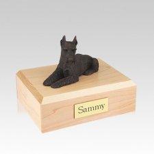 Schnauzer Bronze Ears Up Medium Dog Urn