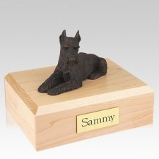Schnauzer Bronze Ears Up Dog Urns
