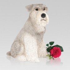 Gray Schnauzer Dog Urn