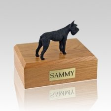 Schnauzer Giant Black Large Dog Urn