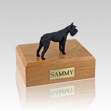 Schnauzer Giant Black Medium Dog Urn