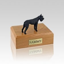 Schnauzer Giant Black Small Dog Urn