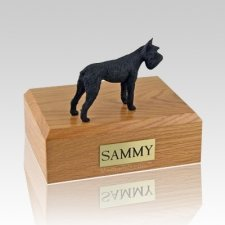Schnauzer Giant Black X Large Dog Urn