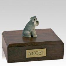 Schnauzer Gray Ears Down Sitting X Large Dog Urn