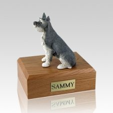 Schnauzer Gray Ears Up Dog Urns