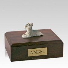 Schnauzer Grey Laying Large Dog Urn
