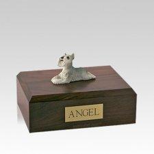 Schnauzer Grey Laying Medium Dog Urn