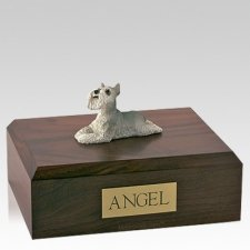 Schnauzer Grey Laying Dog Urns