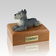 Schnauzer Grey Large Dog Urn