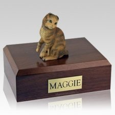 Scottish Fold Brown Tabby X Large Cat Cremation Urn
