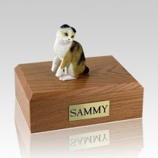 Scottish Fold Tort Large Cat Cremation Urn