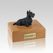 Scottish Terrier Black Medium Dog Urn