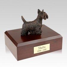 Scottish Terrier Bronze Large Dog Urn