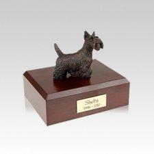 Scottish Terrier Bronze Small Dog Urn