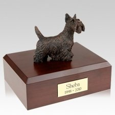Scottish Terrier Bronze Dog Urns