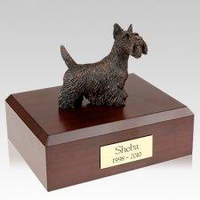Scottish Terrier Bronze X Large Dog Urn