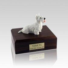 Scottish Terrier White Small Dog Urn