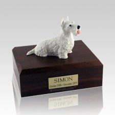Scottish Terrier White X Large Dog Urn
