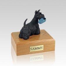 Scottish Terrier with Slipper Medium Dog Urn