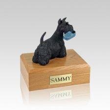 Scottish Terrier with Slipper Small Dog Urn