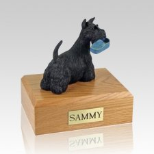 Scottish Terrier with Slipper X Large Dog Urn