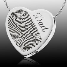 Script Heart Cremation Print Keepsakes