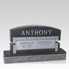Scroll Companion Granite Headstone