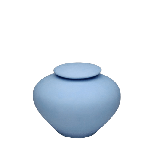Blue Sea Small Porcelain Clay Urn