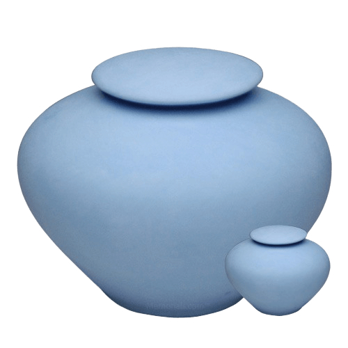 Blue Sea Porcelain Clay Cremation Urns