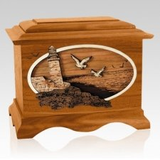 Sea Coast Mahogany Cremation Urn