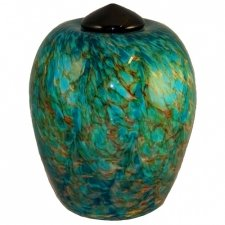 Sea Glass Cremation Urn