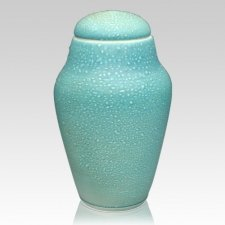 Seafoam Ceramic Cremation Urn