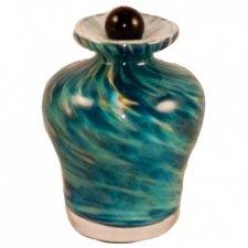 Seascape Glass Pet Keepsake Urn