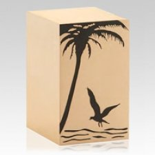 Seaside Bronze Cremation Urn