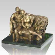 Seated Couple Keepsake Cremation Urn