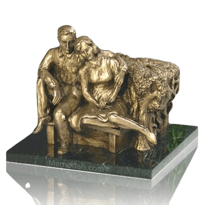 Seated Couple Companion Cremation Urn