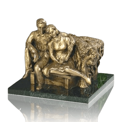 Seated Couple Individual Urn