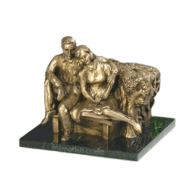 Seated Couple Keepsake Urn