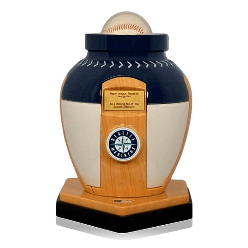 Seattle Mariners Baseball Cremation Urn