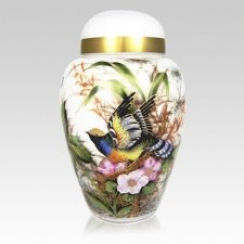 Secret Garden Glass Cremation Urn