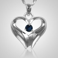 September Birthstone Cremation Heart