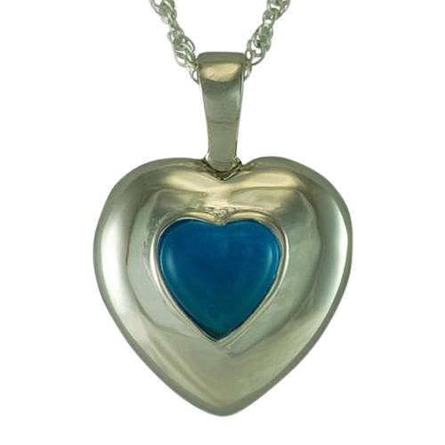 September Cremation Heart Pendant